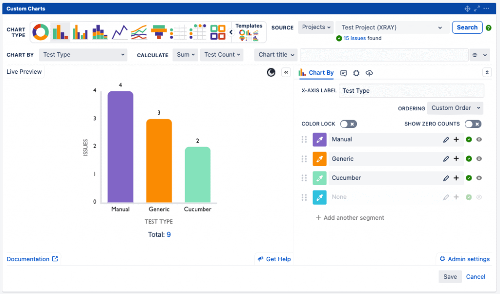 Custom Charts Test Type Bar Chart