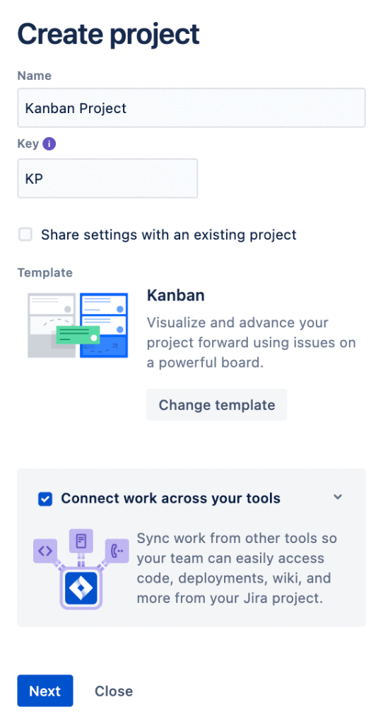 Create Kanban Project Screenshot