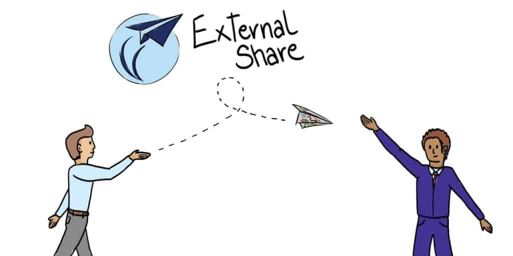 Adding Comments in External Share Header Image