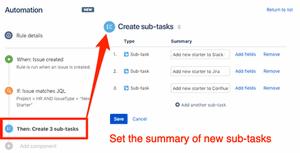 Set the summary to create new sub-tasks in Jira