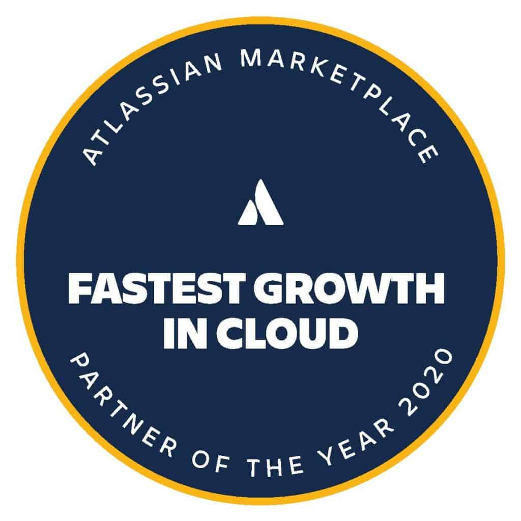 Atlassian Marketplace Fastest Growth in Cloud Partner of the Year 2020