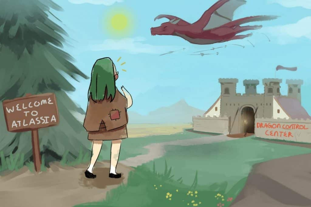 Illustration for dragon story 1