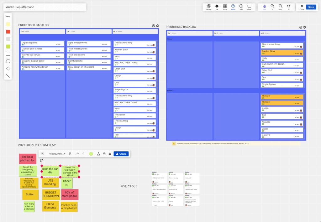 Screenshot of an Agile Planning for Jira board