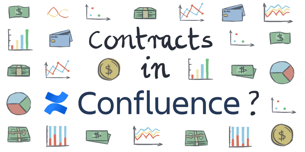 Header image with article title surrounded by charts and money cliparts